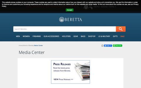 Screenshot of Press Page beretta.com - Media Center - captured Dec. 5, 2019