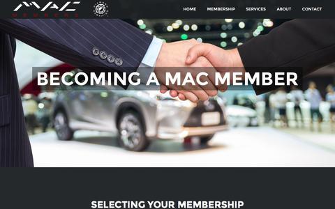 Screenshot of Signup Page macmembers.com - Join – MAC Members - captured Nov. 17, 2016