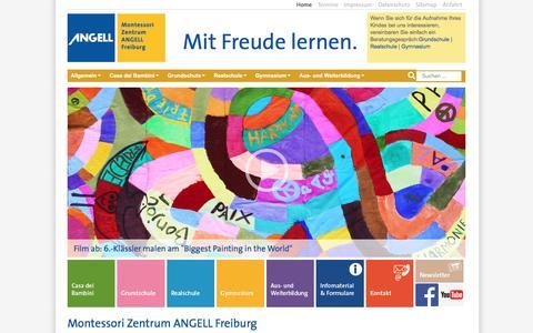 Screenshot of Home Page angell-montessori.de - Home - Montessori Zentrum ANGELL Freiburg - captured April 2, 2017