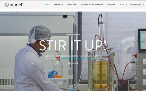 Screenshot of Home Page bionet.com - Home - Bionet - captured Nov. 13, 2018