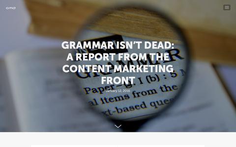 Screenshot of Blog cmdagency.com - CMD Agency Blog - Our view on navigating today's marketing landscape - captured Jan. 23, 2016