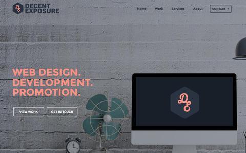 Screenshot of Home Page decentexposure.co.nz - Website Design Christchurch | DecentExposure - captured March 6, 2016