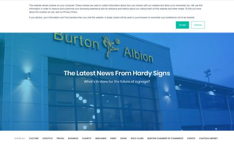 Screenshot of Press Page hardysigns.co.uk - News - Hardy Signs - captured Sept. 27, 2018