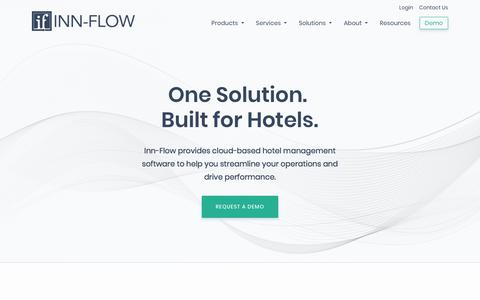 Screenshot of Home Page inn-flow.com - Hotel Accounting and Management Software | Inn-Flow - captured Nov. 8, 2019