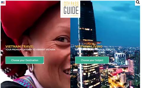 Screenshot of Home Page citypassguide.com - Vietnam's Premium Travel Guide - City Pass Guide - captured July 13, 2016