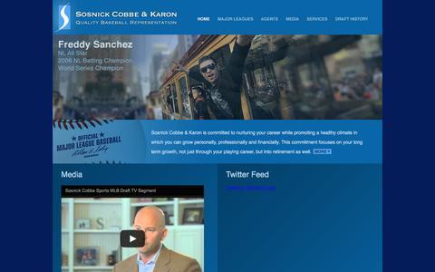 Screenshot of Home Page sosnickcobbe.com - Sosnick Cobbe & Karon - captured March 13, 2016