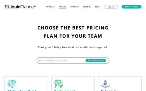 Screenshot of FAQ Page Pricing Page liquidplanner.com - Pricing - LiquidPlanner - captured May 29, 2019