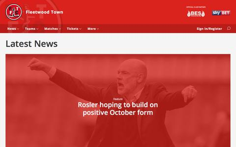 Screenshot of Press Page fleetwoodtownfc.com - Latest News - Fleetwood Town - captured Oct. 14, 2017