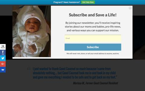 Screenshot of Testimonials Page goodcounselhomes.org - Testimonials - Good Counsel - captured Nov. 11, 2016