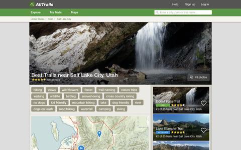 Screenshot of alltrails.com - Best Trails near Salt Lake City, Utah  | AllTrails.com - captured Sept. 21, 2016