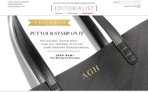 Screenshot of Home Page editorialist.com - Editorialist | Luxury Fashion Accessories Magazine & Online Store - captured Dec. 18, 2015