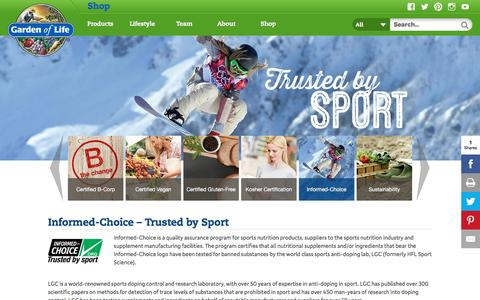 Informed-Choice - Trusted by Sport   Garden of Life