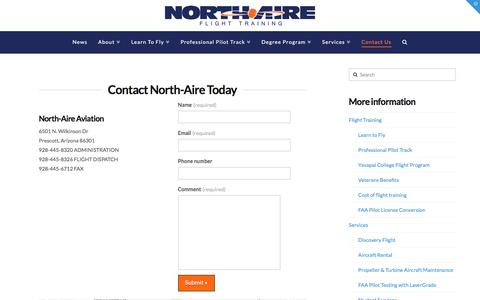 Screenshot of Contact Page north-aire.com - Contact North-Aire - North-Aire - captured Nov. 30, 2016