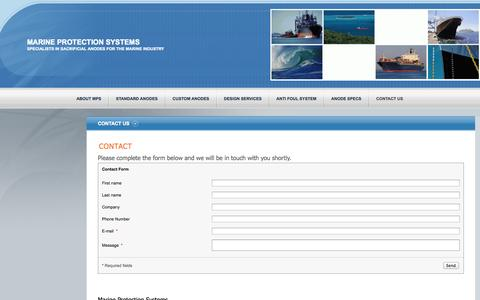 Screenshot of Contact Page marineprotection.co.nz - Marine Protection Systems - Contact Us - captured Oct. 4, 2014