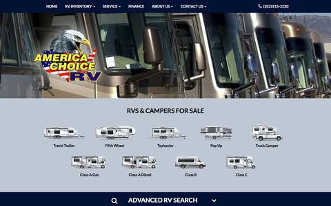Screenshot of Home Page americachoicerv.com - America Choice Rv Bushnell: RVs & Campers for Sale - captured Jan. 12, 2018