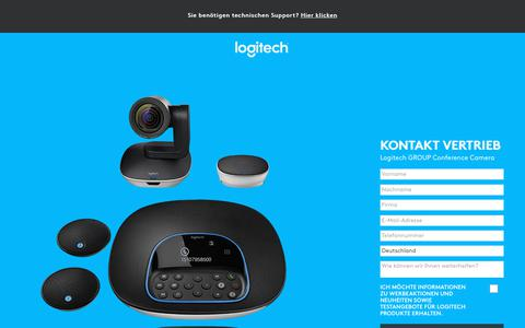 Screenshot of Landing Page logitech.com - Logitech GROUP Conference Camera | Contact Us - captured Sept. 21, 2018
