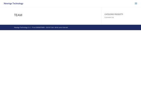 Screenshot of Team Page newagetechnology.it - Team   NewAge Technology - captured Nov. 16, 2018