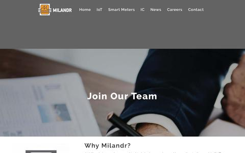 Screenshot of Jobs Page milur.com - Careers   Milandr, Inc. - captured July 9, 2018