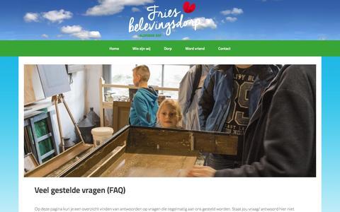 Screenshot of FAQ Page aldfaerserf.nl - Veel gestelde vragen (FAQ) - captured Feb. 10, 2016