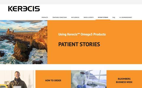 Screenshot of Testimonials Page kerecis.com - Patient Stories · Kerecis - captured Nov. 4, 2018