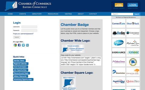 Screenshot of Login Page chamberect.com - Login - CM--login   Chamber ECT - captured Nov. 3, 2016