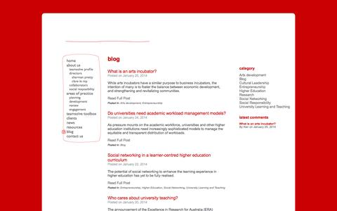 Screenshot of Blog teamsolve.com.au - blog | Teamsolve - captured Oct. 26, 2014