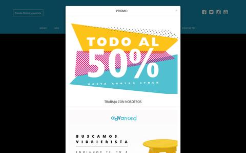 Screenshot of Home Page advanced-adv.com - ADVANCED - Ropa que Quiero - captured Feb. 18, 2016
