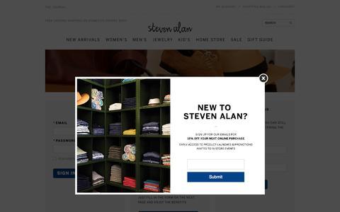 Screenshot of Login Page stevenalan.com - Sites-stevenalan-Site - captured Nov. 23, 2015