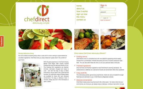 Screenshot of About Page chefdirect.co.za - Chef Direct - about us - captured Sept. 29, 2014