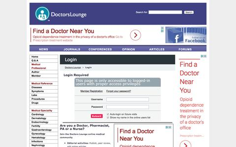 Doctors Lounge | Login