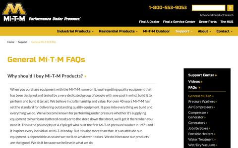 Screenshot of FAQ Page mitm.com - Facts about Mi-T-M Industrial Equipment | Mi-T-M Corporation - captured Feb. 13, 2016