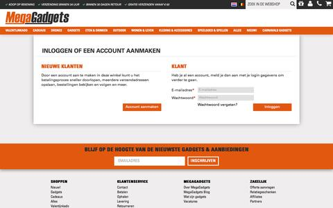 Screenshot of Login Page megagadgets.nl - Klant-login - captured Jan. 9, 2016
