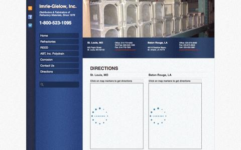 Screenshot of Maps & Directions Page imriegielow.com - Directions | Imrie-Gielow, Inc. - captured Sept. 30, 2014