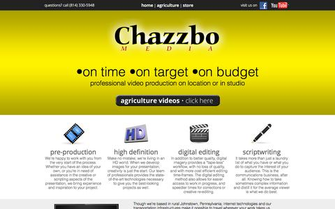 Screenshot of Home Page chazzbo.com - Chazzbo Media - captured Sept. 20, 2015