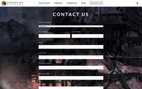 Screenshot of Contact Page streamline-studios.com - Streamline Studios - captured June 17, 2017