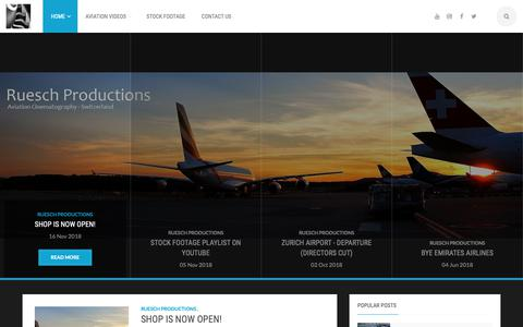 Screenshot of Home Page rueschproductions.com - Ruesch Productions - captured Nov. 26, 2018