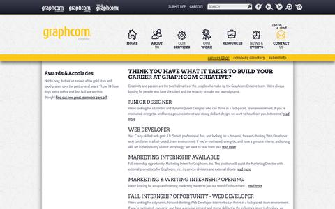 Screenshot of Jobs Page graphcomcreative.com - Careers at Graphcom Creative — Graphcom Creative - captured Sept. 30, 2014