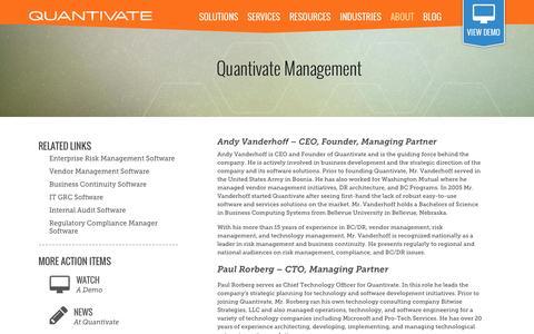 Screenshot of Team Page quantivate.com - Quantivate Management - captured Sept. 30, 2014