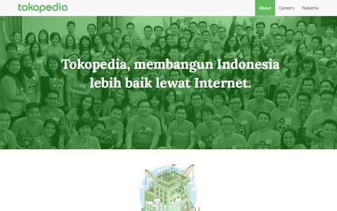 Screenshot of About Page tokopedia.com - Tentang | Tokopedia - captured Nov. 10, 2015