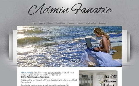 Screenshot of About Page adminfanatic.com - Admin Fanatic - captured Sept. 30, 2014