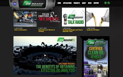 Screenshot of Press Page onboardoiltech.com - Oil Filtration News - ONBOARD® Bypass Oil Filters - captured Oct. 26, 2014