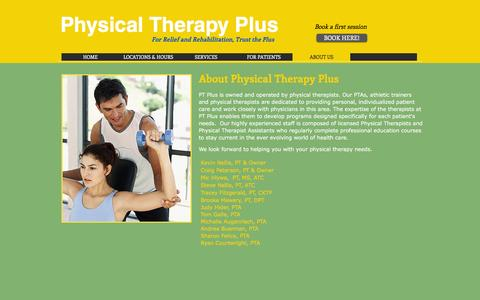 Screenshot of About Page ptpluscny.com - Physical Therapy Plus/About Us/Syracuse - captured Nov. 6, 2016