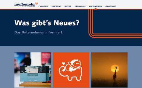 Screenshot of Press Page muffenrohr.de - News Muffenrohr - captured Nov. 27, 2018