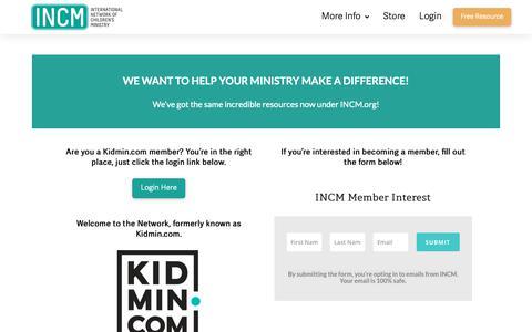 Screenshot of Login Page incm.org - Members — INCM - captured Oct. 12, 2018