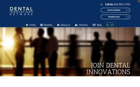 Screenshot of Signup Page dentalinnovations.com.au - Join – Dental Innovations - captured Aug. 1, 2016