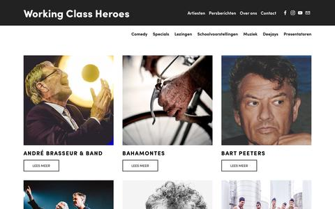 Screenshot of Home Page working-class-heroes.be - Working Class Heroes - captured Oct. 20, 2018