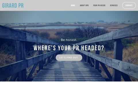 Screenshot of Home Page dgirardpr.com - Girard PR - captured Jan. 28, 2016