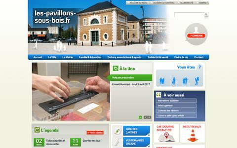 Screenshot of Home Page les-pavillons-sous-bois.fr - Accueil - Site de la ville des Pavillons-sous-Bois - captured March 23, 2017