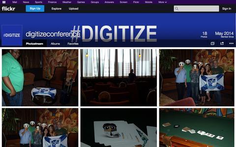 Screenshot of Flickr Page flickr.com - Flickr: digitizeconference's Photostream - captured Oct. 23, 2014