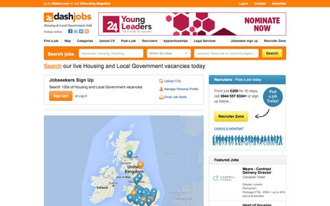 Screenshot of Maps & Directions Page 24dashjobs.com - UK Housing Jobs and Local Government Jobs - 24dash jobs - captured March 1, 2016